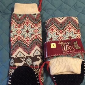 Muk Luks slipper socks